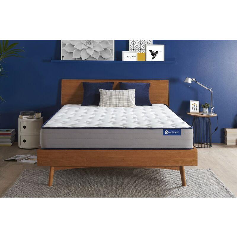 Actisom - Materasso Actiflex form 160x220cm , Spessore : 22 cm , Molle insacchettate e memory foam , Rigido, 5 zone di comfort