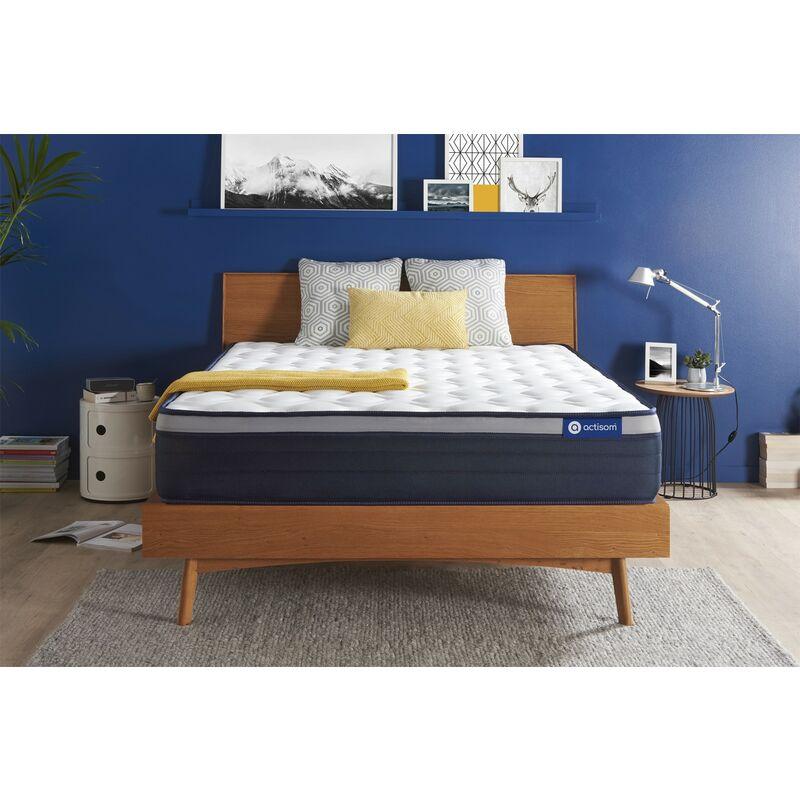 Actisom - Materasso Actiflex max 160x200cm , Spessore : 26 cm , Molle insacchettate e memory foam , Rigido, 7 zone di comfort