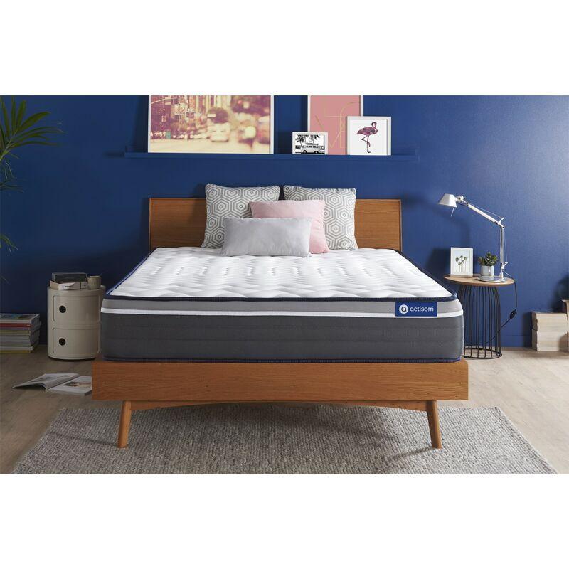 Actisom - Materasso Actiflex plus 140x200cm , Spessore : 26 cm , Molle insacchettate e memory foam , Molto rigido, 7 zone di comfort