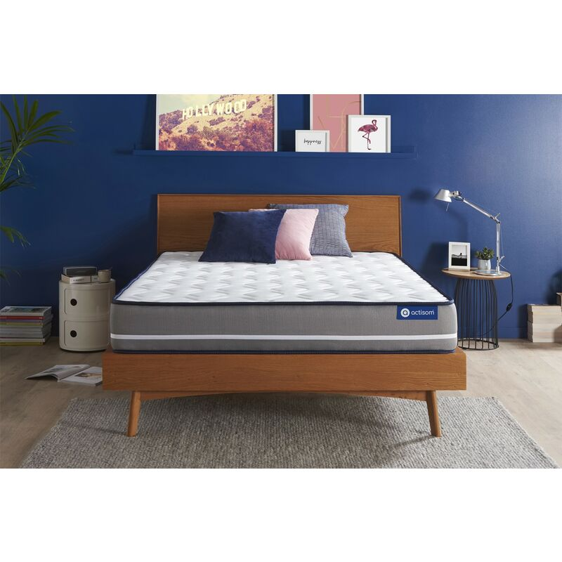 Materasso Actiflex pur 120x210cm , Spessore : 20 cm , Molle insacchettate , Rigido, 3 zone di comfort - ACTISOM