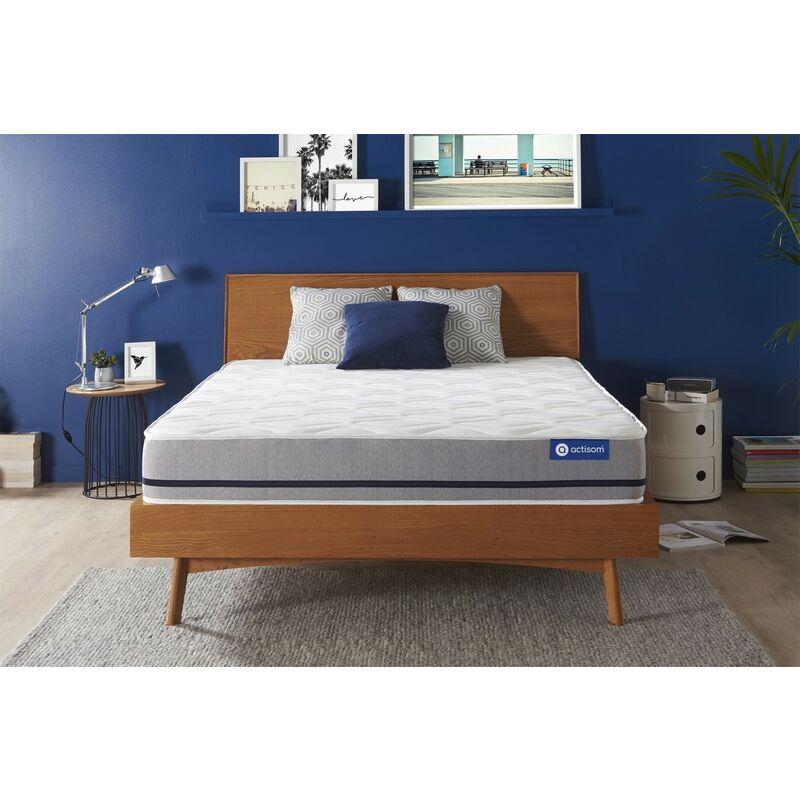 Actisom - Materasso Actiflex soft 120x200cm , Spessore : 20 cm , Molle insacchettate , Moderatamente rigido, 3 zone di comfort