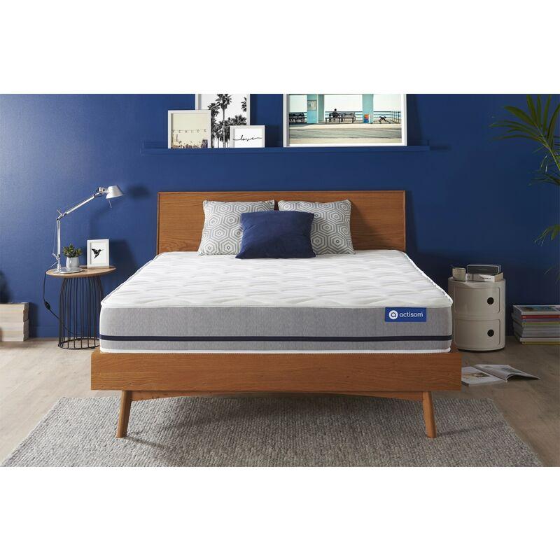 Actisom - Materasso Actiflex soft 130x210cm , Spessore : 20 cm , Molle insacchettate , Moderatamente rigido, 3 zone di comfort