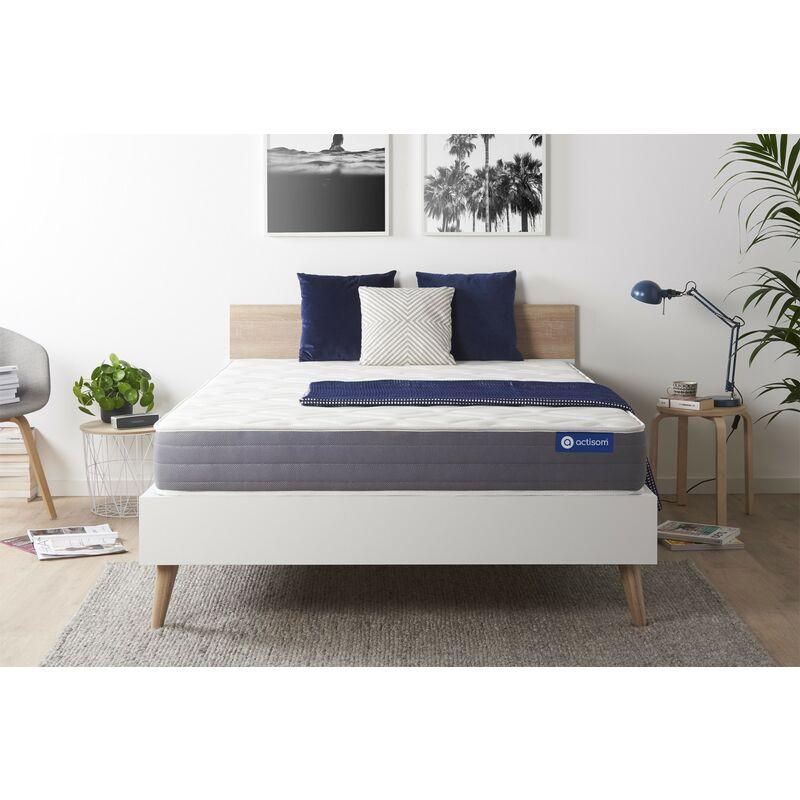 Actisom - Materasso Actilatex dream 160x210cm , Spessore : 22 cm , Lattice e memory foam , Moderatamente rigido, 5 zone di comfort