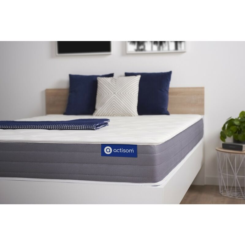 Actisom - Materasso Actilatex dream 80x190cm , Spessore : 22 cm , Lattice e memory foam , Moderatamente rigido, 5 zone di comfort