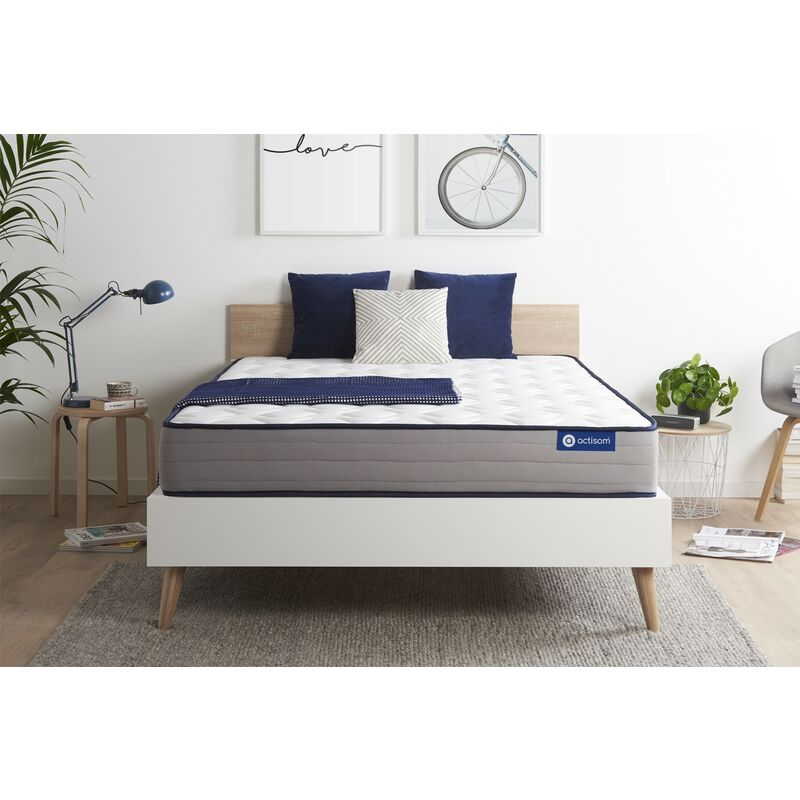Actisom - Materasso Actilatex form 150x190cm , Spessore : 22 cm , Lattice e memory foam , Rigido, 5 zone di comfort