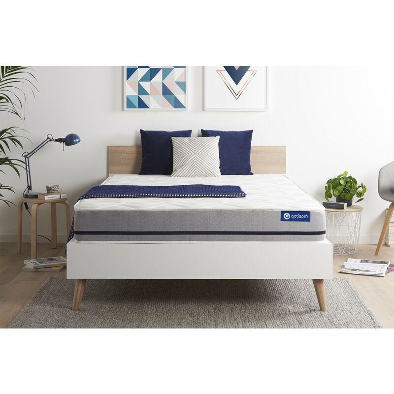Actisom - Materasso Actilatex soft 135x200cm , Spessore : 20 cm , Lattice e memory foam , Moderatamente rigido, 3 zone di comfort