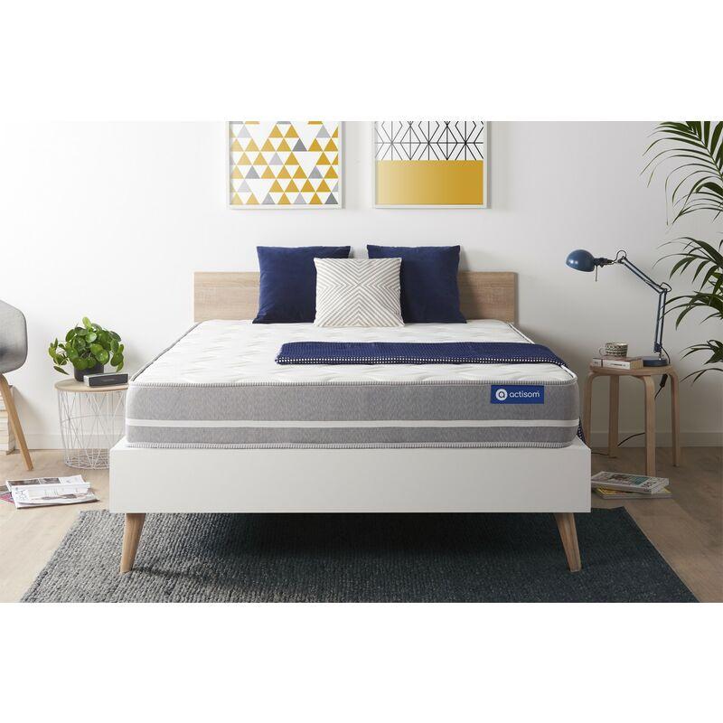 Actisom - Materasso Actilatex touch 140x220cm , Spessore : 20 cm , Lattice e memory foam , Bilanciato, 3 zone di comfort