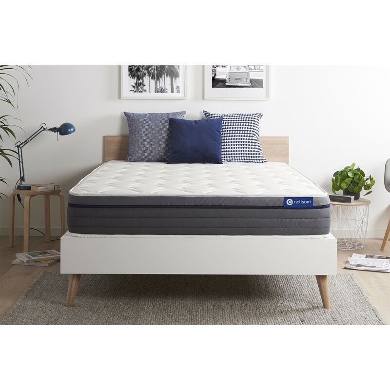 Materasso Actilatex zen 135x190cm , Spessore : 26 cm , Lattice e memory foam , Bilanciato, 7 zone di comfort - ACTISOM