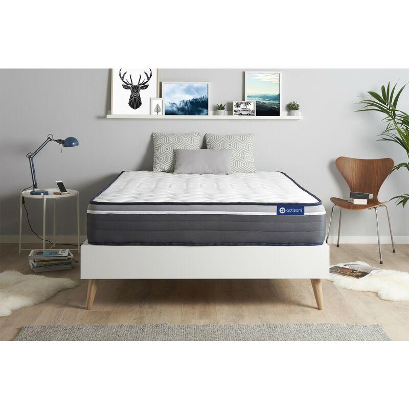 Actisom - Materasso Actimemo plus 130x190cm , Spessore : 26 cm , Memory foam , Molto rigido, 7 zone di comfort