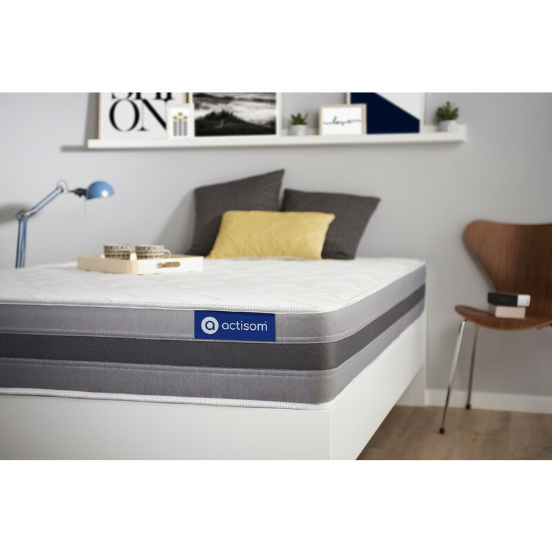 Actisom - Materasso Actimemo relax 100x190cm , Spessore : 24 cm , Memory foam , Moderatamente rigido, 5 zone di comfort