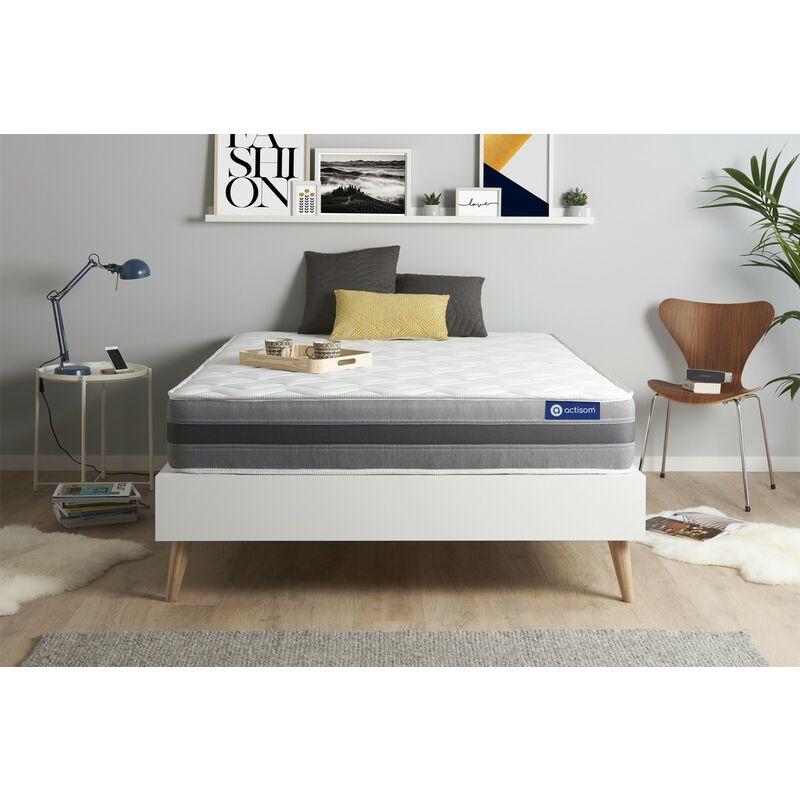 Actisom - Materasso Actimemo relax 133x182cm , Spessore : 24 cm , Memory foam , Moderatamente rigido, 5 zone di comfort