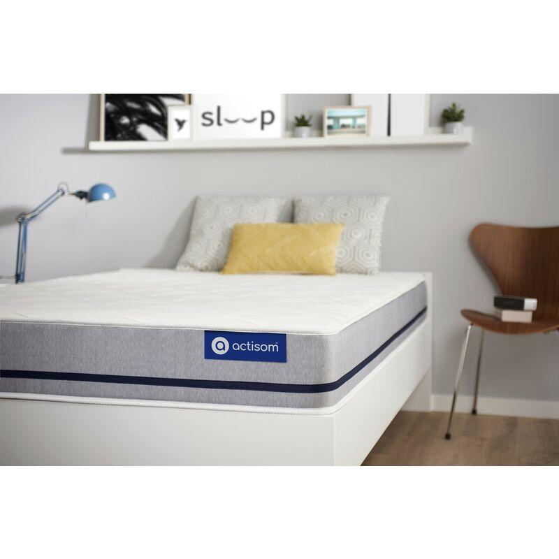 Actisom - Materasso Actimemo soft 105x200cm , Spessore : 20 cm , Memory foam , Moderatamente rigido, 3 zone di comfort