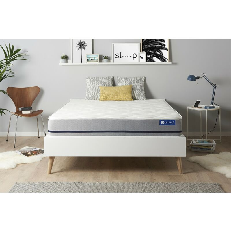 Actisom - Materasso Actimemo soft 140x210cm , Spessore : 20 cm , Memory foam , Moderatamente rigido, 3 zone di comfort