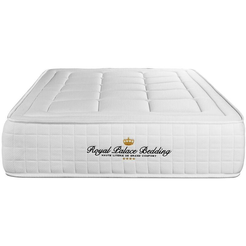 Royal Palace Bedding - Materasso Balmoral 105 x 200 cm , Spessore : 24 cm, Memory foam, Rigido, 3 zone di comfort