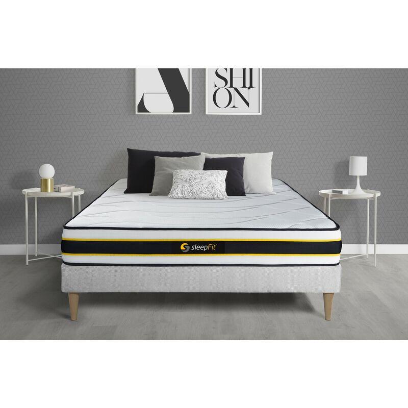 Sleepfit - Materasso FLEXY 140x210cm , Spessore : 22 cm , Molle insacchettate e memory foam , Rigido, 3 zone di comfort
