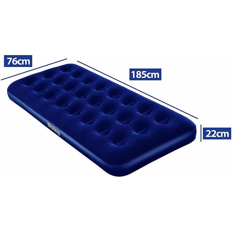 Materasso Gonfiabile Bestway 185X75X22Cm Floccato Superficie In Velluto 67000 - LUPEXSHOP