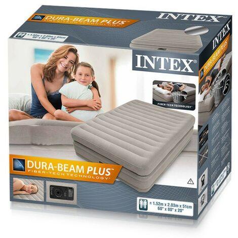 intex materasso matrimoniale gonfiabile comfort con pompa elettrica inclusa