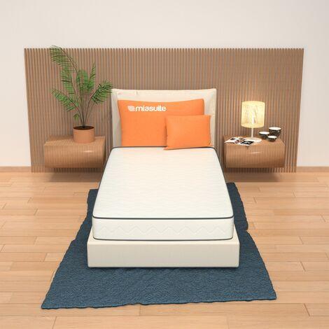 Materasso singolo alto 19 cm con lastra in memory foam da 2 cm a 9 zone differenziate non sfoderabile. Modello: Premiere