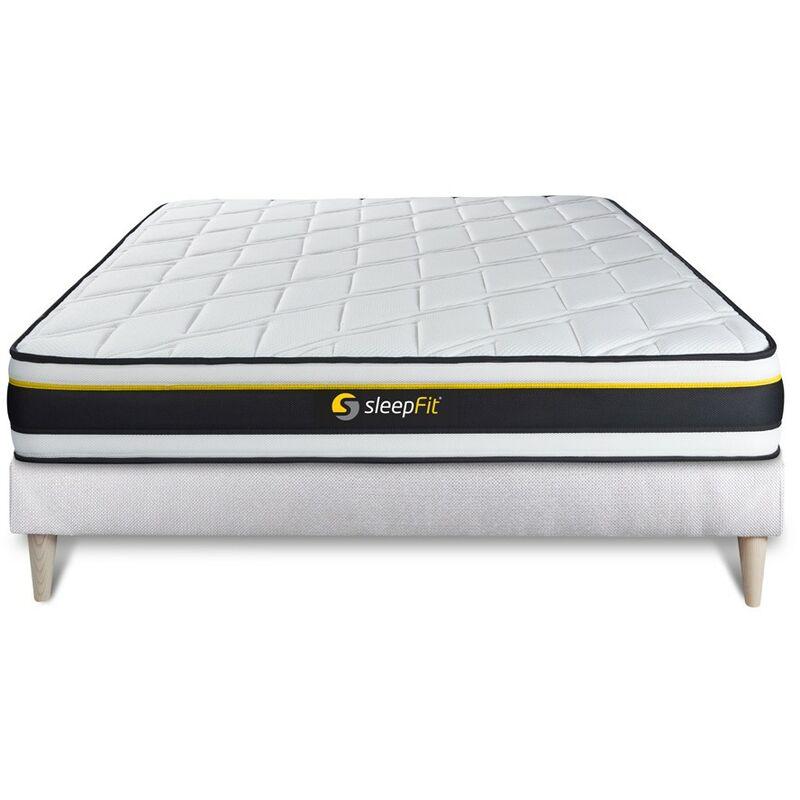Sleepfit - Kit rete e materasso SOFT 120x195cm - Spessore : 19 cm - Foam HD con struttura microalveolare - molto rigido, 3 zone di comfor