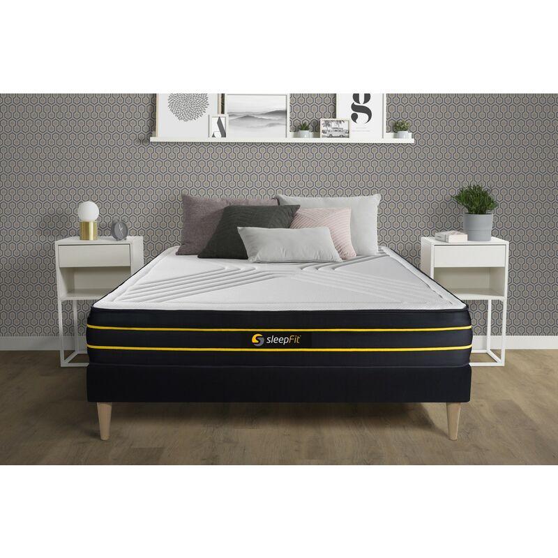 Sleepfit - Materasso ULTRA 130x210cm , Spessore : 26 cm , Memory foam e micro-molle insacchettate , Bilanciato, 7 zone di comfort