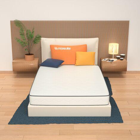 Materasso una piazza e mezza alto 19 cm con lastra in memory foam da 2 cm a 9 zone differenziate non sfoderabile. Modello: Premiere.