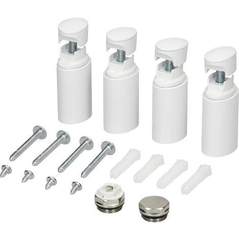 Material de montaje baño soporte suspensión para radiador blanco kit sujección