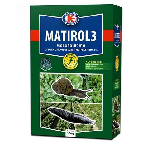 Matirol 3 Molusquicida Granulado Anti Limacos, Control de Caracoles y Babosas - Estuche 500 gr