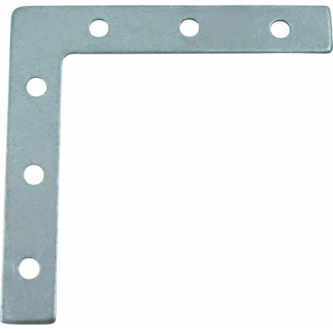 Matlock 100mm Corner Plate Bzp -e/galv (PK-10)