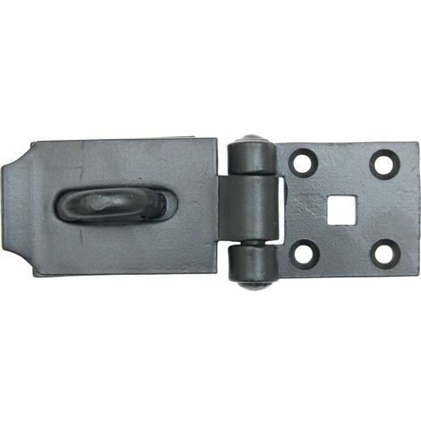 Matlock 150mm Short Pattern Heavy Hasp And Staple Black