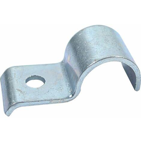 "main image of ""Hose Clip, Steel - BZP (Bright Zinc Plated) - Half Saddle Heavy Duty - DIN 1596"""