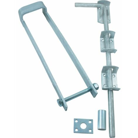 Matlock 350mm Double Gate Fastener Set C/w Fittings GALV.
