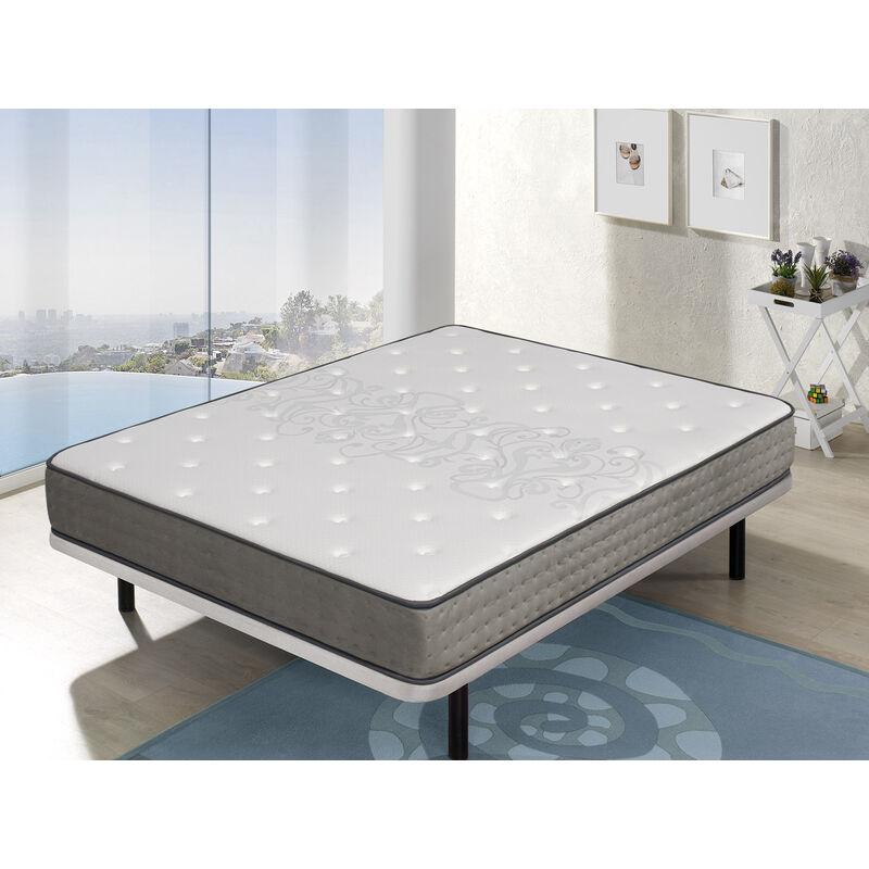 Dormalit - Matratze 180x200 BORDEAUX - H3 - Hohe 20 cm Taschenfedern -viskoelastische auf beiden Seiten