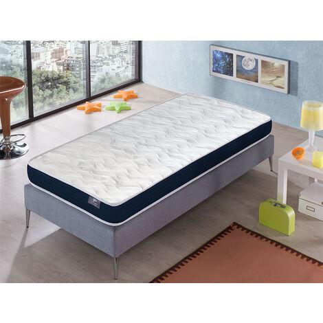 Matratze 90x200 ERGO CONFORT - HÖHE 14 CM - Super weiche Polsterung - jugendlich - ideal für Nest-Betten