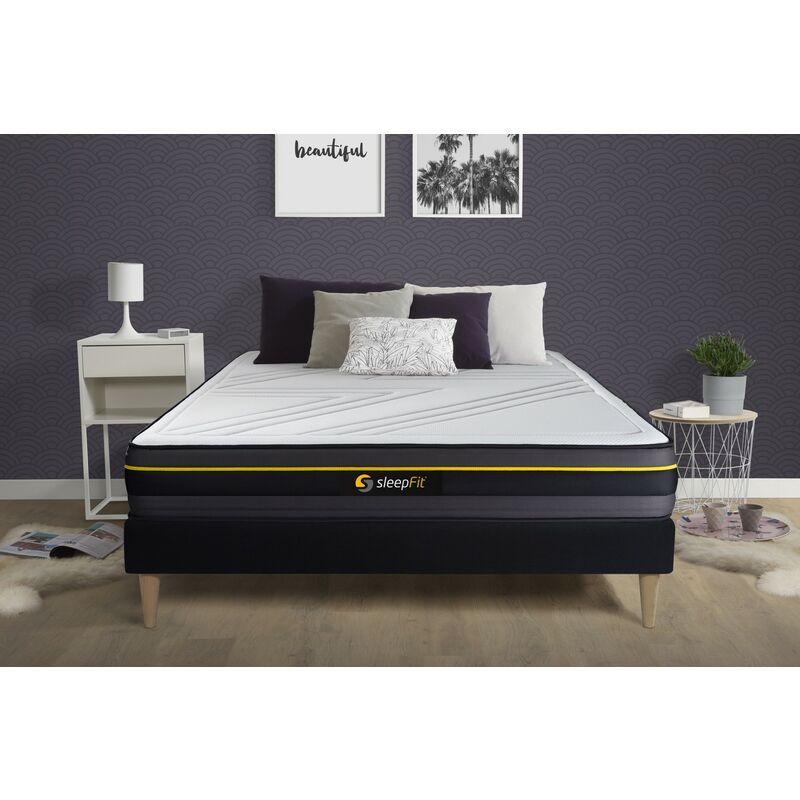 Sleepfit - ACTIVE Matratze 130x190cm, Memory-Schaum , Härtegrad 4, Höhe: 24cm, 5 Komfortzonen