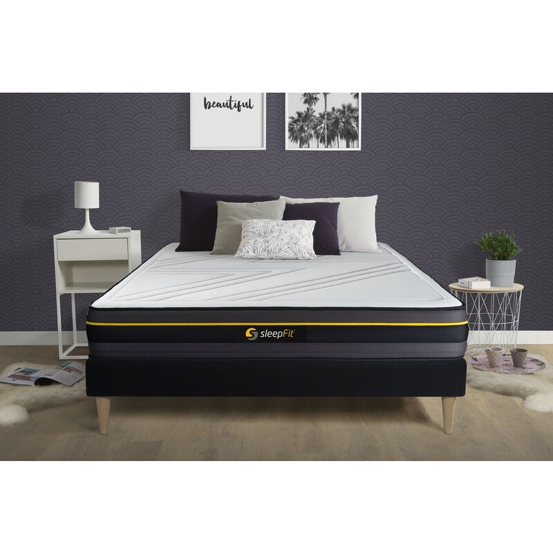 Sleepfit - ACTIVE Matratze 135x200cm, Memory-Schaum , Härtegrad 4, Höhe: 24cm, 5 Komfortzonen