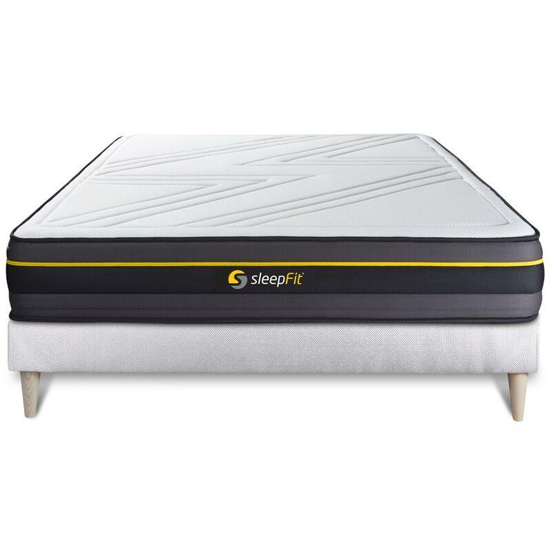 Sleepfit - Matratze ACTIVE 180x200cm + Bettgestell mit lattenrost - Dicke : 24cm - Memory-Schaum - H4