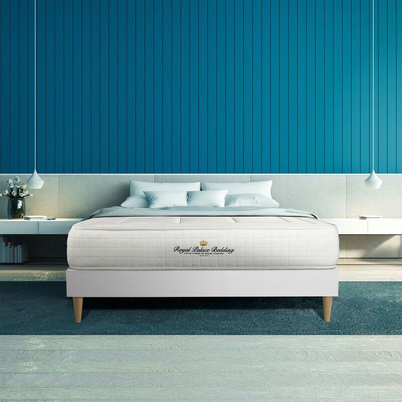 Royal Palace Bedding - Matratze Balmoral 150 x 190 cm , Dicke : 24 cm , Memory-Schaum , Fest, 3 Komfortzonen, H4
