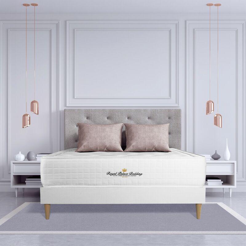 Matratze Buckingham 180x220cm + Bettgestell mit lattenrost - Dicke : 30cm - Memory-Schaum - H3 - ROYAL PALACE BEDDING