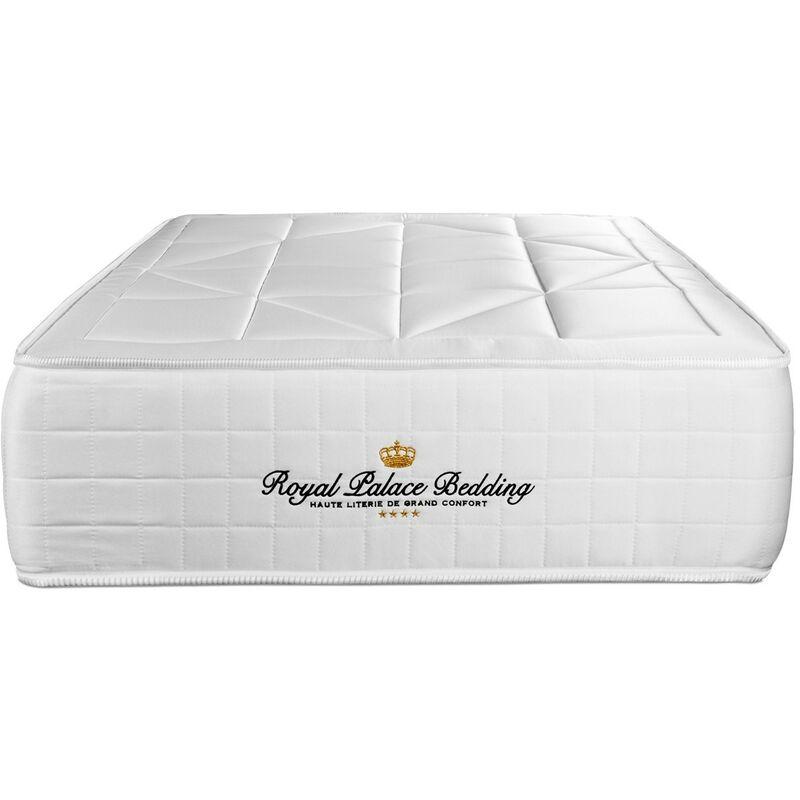 Royal Palace Bedding - Matratze Windsor 75 x 190 cm , Dicke : 26 cm , Memory-Schaum und Taschenfeder , Mittel, 5 Komfortzonen, H3