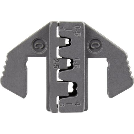 """main image of """"Matrices à sertir TOOLCRAFT PLE-0C pour connecteur plat Ouverture de serrage: 0.5 à 6 mm² adapté pour marque: TOOLCRAFT PZ-500 W522671"""""""