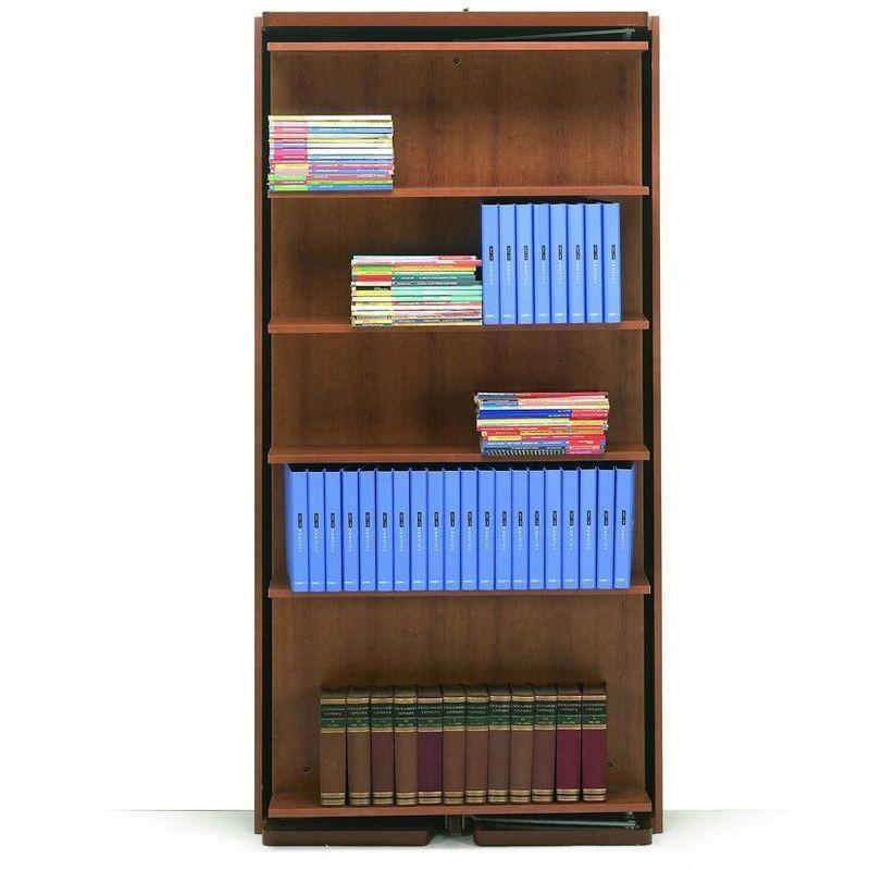 MATRIMONIALE Armoire lit verticale pivotante couchage 90 * 200 cm coloris noyer - marron