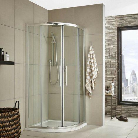 Matrix 900mm Quadrant Shower Enclosure, Tray & Waste