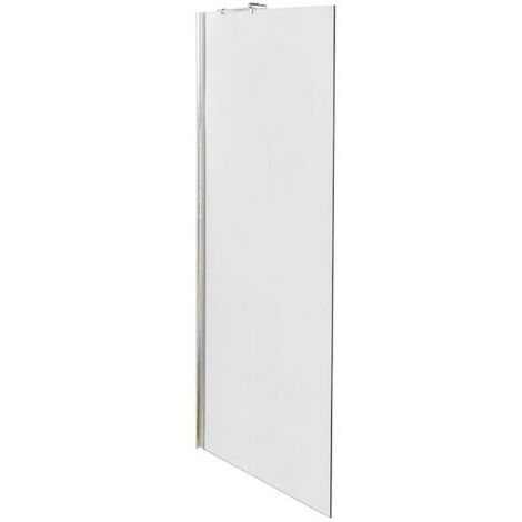 Matrix Chrome 800mm x 1950mm Wetroom Screen (Shower Shield) & Support Bar