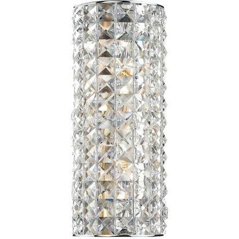 """main image of """"Matrix crystal and polished chrome wall light 2 bulbs"""""""