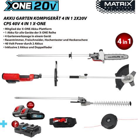 Matrix X-ONE 40 Volt Akku Garten-Komigerät