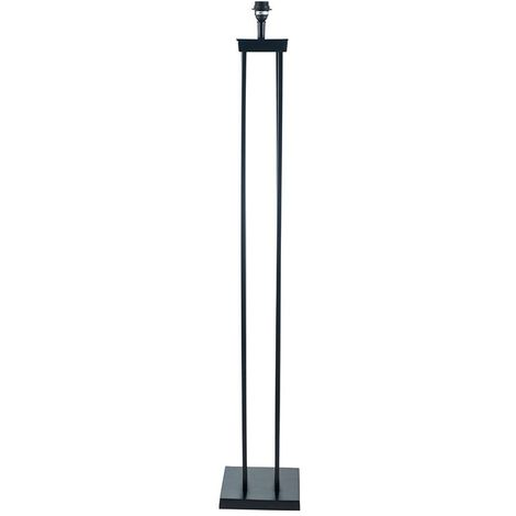 Matt Black Metal Four Post Floor Lamp