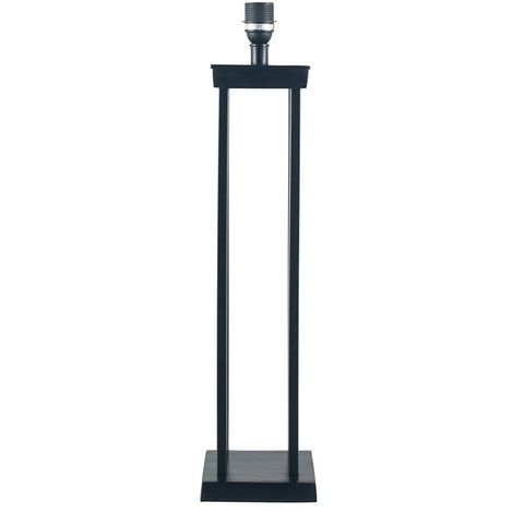 Matt Black Metal Four Post Table Lamp