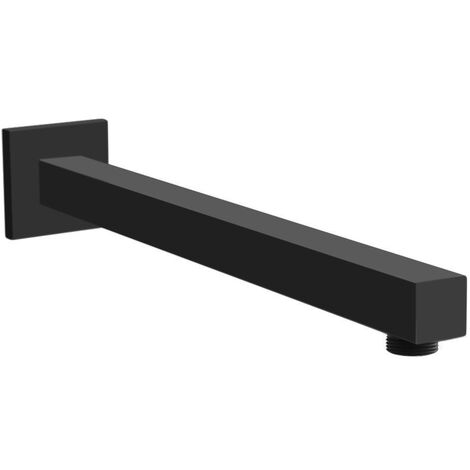 Matt Black Support Arm Bar for frameless Walk In Shower Enclosures