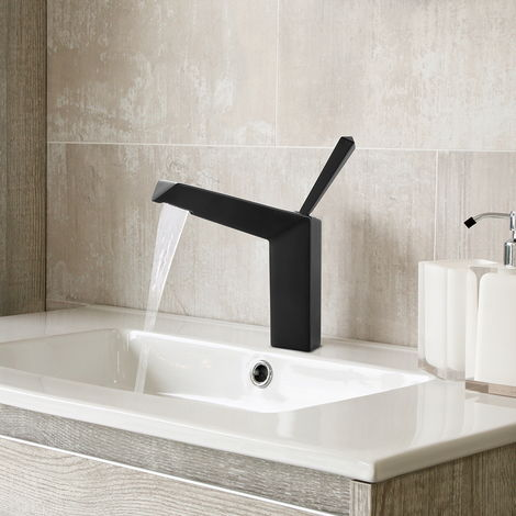 Matte Black BathroomTap Single Handle Sink Mixer Faucet for Lavatory Bathroom Sink Faucet