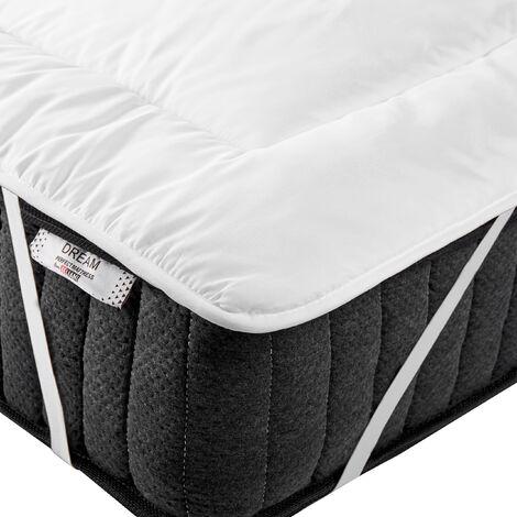 Mattress Bed Topper Microfibre EU King Size 5ft3 Yangra